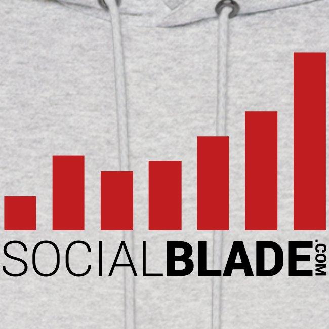 Social Blade Red Logo Hoodie
