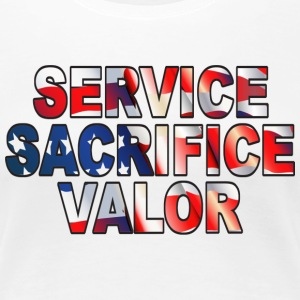 Service Sacrifice Valor - Women's Premium T-Shirt