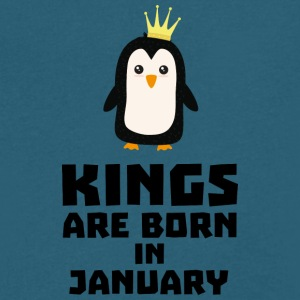 kings born in JANUARY S4qdv T-Shirts - Men's V-Neck T-Shirt by Canvas