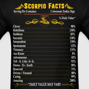 Scorpio  Facts Zodiac  T-Shirts - Men's T-Shirt
