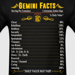 Gemini Facts Zodiac  T-Shirts - Men's T-Shirt