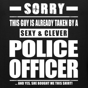 Guy Taken - Police Officer Shirt Cop Cops Sportswear - Men's Premium Tank
