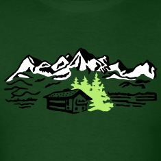 Mountain cottage forest T-Shirts