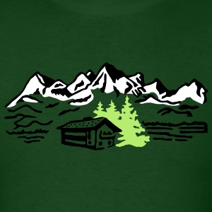 Mountain cottage forest T-Shirts - Men's T-Shirt