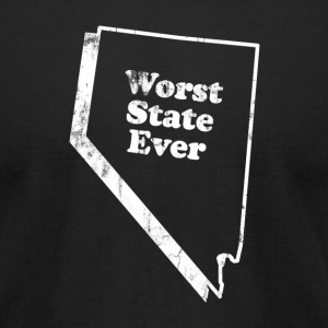 NEVADA - WORST STATE EVER T-Shirts - Men's T-Shirt by American Apparel