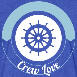 Steering Wheel Sail Crew Love 2c T-Shirts - Fitted Cotton/Poly T-Shirt by Next Level