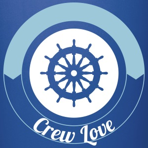 Steering Wheel Sail Crew Love 2c Mugs & Drinkware - Full Color Mug