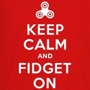 Keep calm and fidget on - Fidget Spinner Kids' Shirts - Kids' Premium Long Sleeve T-Shirt