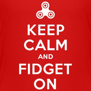 Keep calm and fidget on - Fidget Spinner Kids' Shirts - Kids' Premium T-Shirt