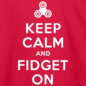 Keep calm and fidget on - Fidget Spinner Kids' Shirts - Kids' Long Sleeve T-Shirt