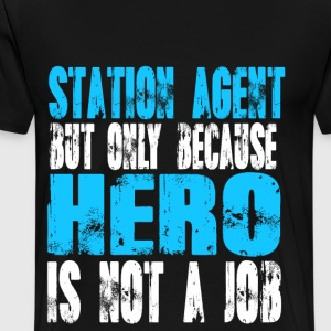 station agent Hero - Men's Premium T-Shirt