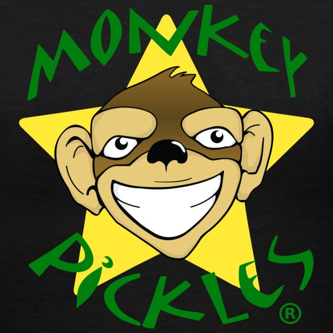 Monkey Pickles Women's V-Neck T-Shirt