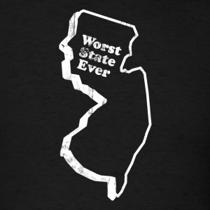 NEW JERSEY - WORST STATE EVER T-Shirts - Men's T-Shirt
