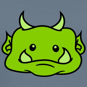 Head face cute cute ogre ork troll funny monster s T-Shirts - Men's Premium T-Shirt