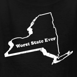 NEW YORK - WORST STATE EVER Kids' Shirts - Kids' T-Shirt