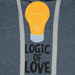 Logic of love bulp So2kl Men's Long Sleeve - Men's Premium Hoodie