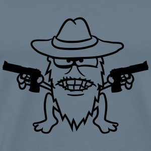 Cowboy pistols gangster raid shoot evil raiders th T-Shirts - Men's Premium T-Shirt