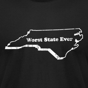 NORTH CAROLINA - WORST STATE EVER T-Shirts - Men's T-Shirt by American Apparel