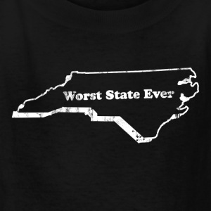 NORTH CAROLINA - WORST STATE EVER Kids' Shirts - Kids' T-Shirt