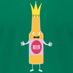 Queen Beer bottle with crone Sfq4y T-Shirts - Men's T-Shirt by American Apparel