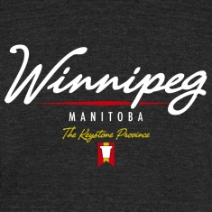 Winnipeg Script American Apparel Tri-Blend Vintage T-Shirt