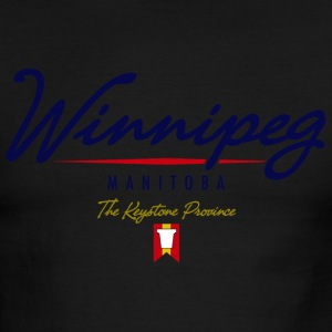 Winnipeg Script American Apparel Ringer T-Shirt - Men's Ringer T-Shirt
