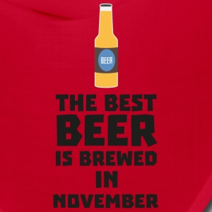 Best Beer is brewed in November Sk446 Caps - Bandana