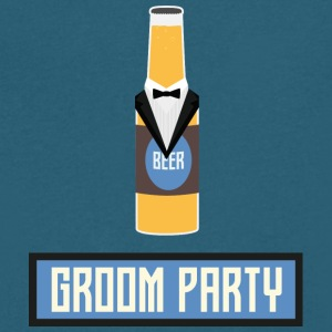 Groom Party Beer Bottle S77yx T-Shirts - Men's V-Neck T-Shirt by Canvas