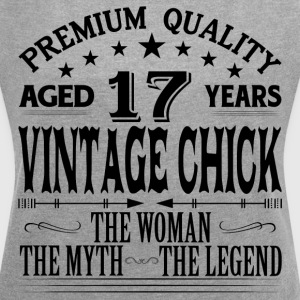 VINTAGE CHICK AGED 17 YEARS T-Shirts - Women´s Roll Cuff T-Shirt