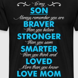 Son Love Mom T-Shirts - Men's Premium T-Shirt