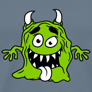 Slimy disgusting mucus glibber monster small naugh T-Shirts - Men's Premium T-Shirt
