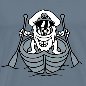 Boat ship captain rowing boat rowing water swimmin T-Shirts - Men's Premium T-Shirt