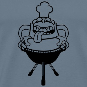 Bbq hunger grilling chef cook eating sausage sausa T-Shirts - Men's Premium T-Shirt