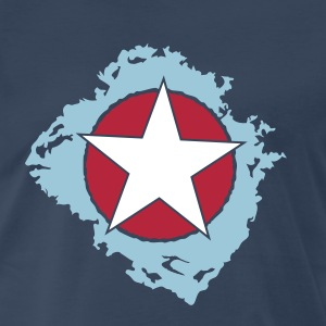 star circle back brok_vec 3 us T-Shirts - Men's Premium T-Shirt