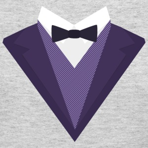 Violet Tuxedo Suit with bow tie S67ze Long Sleeve Shirts - Women's Long Sleeve Jersey T-Shirt