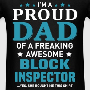 Block Inspector's Dad - Men's T-Shirt
