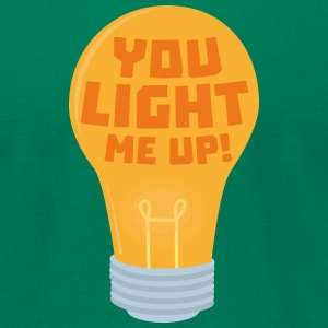 Bulb you light me up Syjv6 T-Shirts - Men's T-Shirt by American Apparel