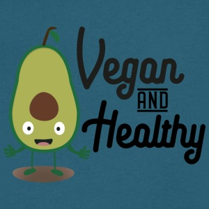 Vegan and Healthy Avocado S1sts T-Shirts - Men's V-Neck T-Shirt by Canvas