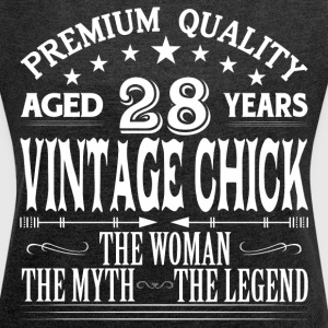 VINTAGE CHICK AGED 28 YEARS T-Shirts - Women's Roll Cuff T-Shirt