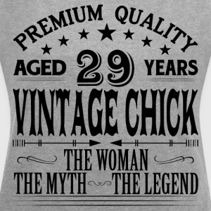 VINTAGE CHICK AGED 29 YEARS T-Shirts - Women´s Roll Cuff T-Shirt