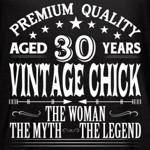 VINTAGE CHICK AGED 30 YEARS Tanks - Women's Flowy Tank Top by Bella