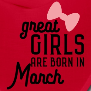 Great Girls are born in Macrh Sa3re Caps - Bandana