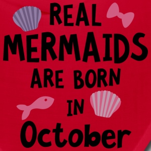 Mermaids are born in October Sbwn5 Caps - Bandana