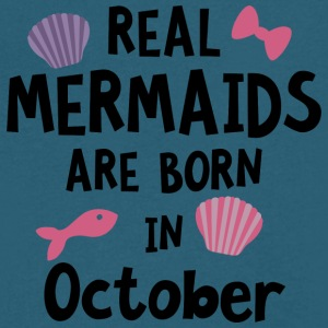 Mermaids are born in October Sbwn5 T-Shirts - Men's V-Neck T-Shirt by Canvas