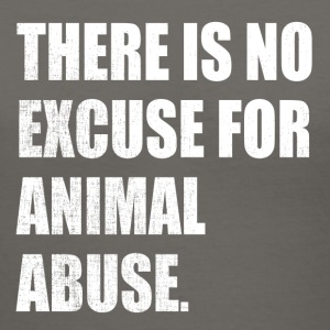 No Excuse for Animal Abuse - Women's V-Neck T-Shirt