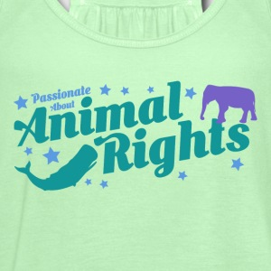 Animal Rights design - Women's Flowy Tank Top by Bella
