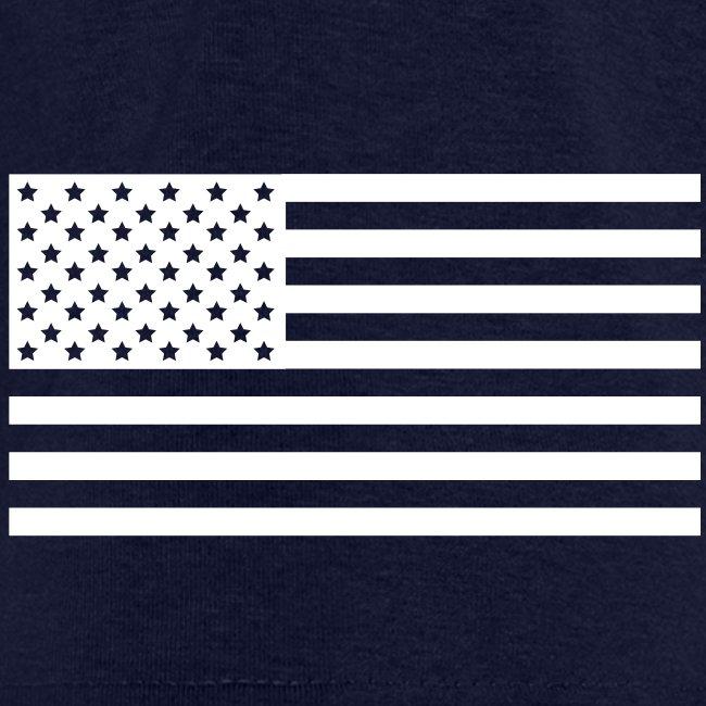 USS NORMANDY CG-60 STRIPE TEE w/ USA FLAG SLEEVE PRINT