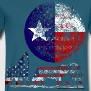 WOLF PACK TEXAS T-Shirts - Men's V-Neck T-Shirt by Canvas