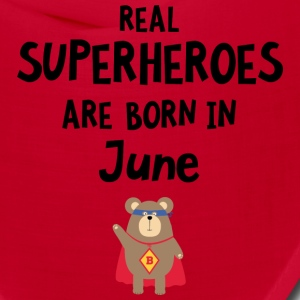 Superheroes are born in June S57a5 Caps - Bandana