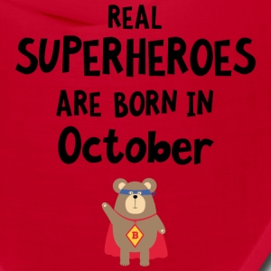 Superheroes are born in October Sncn3 Caps - Bandana